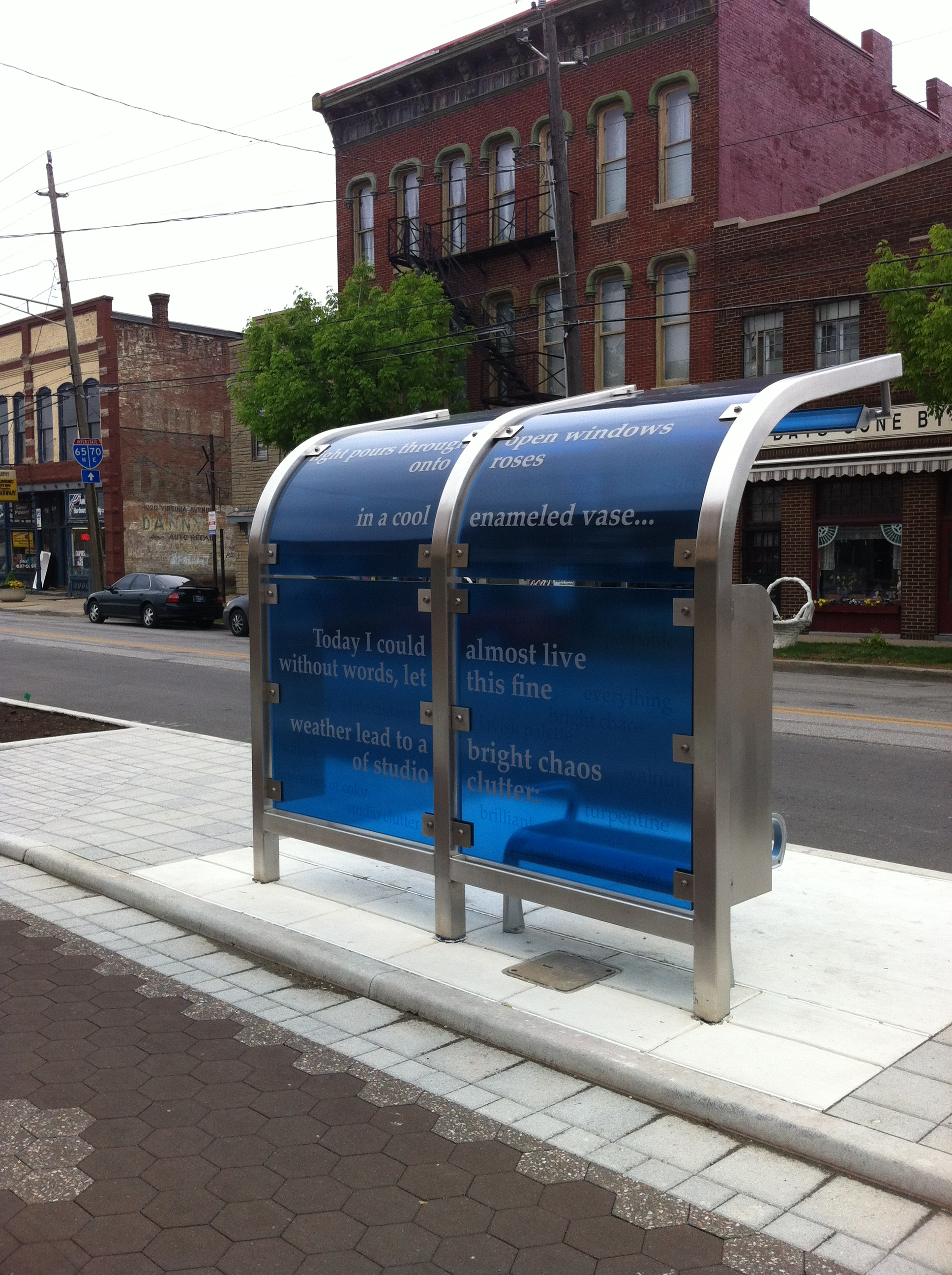 Steel Bus Shelters : Commercial specialty stainless steel fabrication